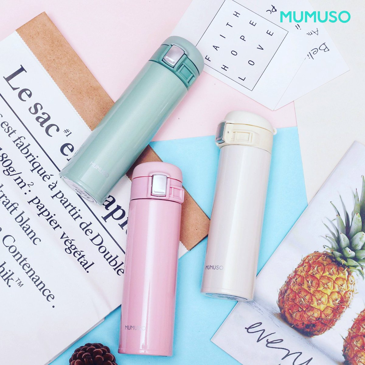 Always bring your own bottle to help reduce plastic use. Have a great day! 😉  #Mumuso
