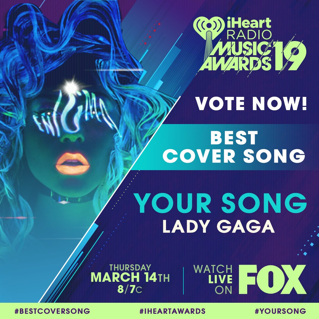 �� @ladygaga ��  #YourSong #BestCoverSong #iHeartAwards  https://t.co/aPueslGLA4 https://t.co/nfohztaRl0