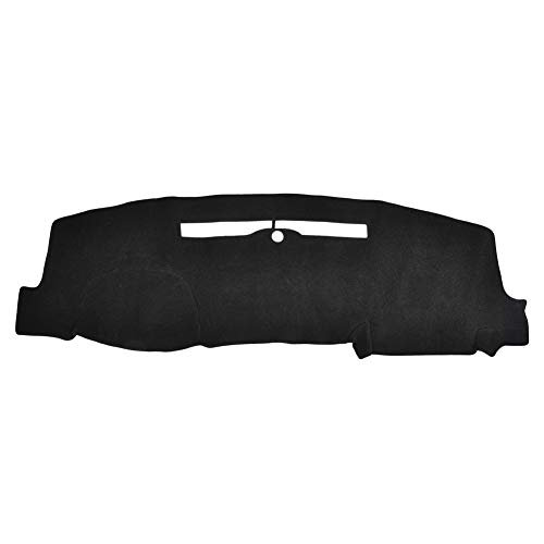 TOHUU Dashboard Black Center Console Cover Dash Mat Protector Sunshield Cover for 2014-2017 Chevrolet Silverado 1500 2500 3500