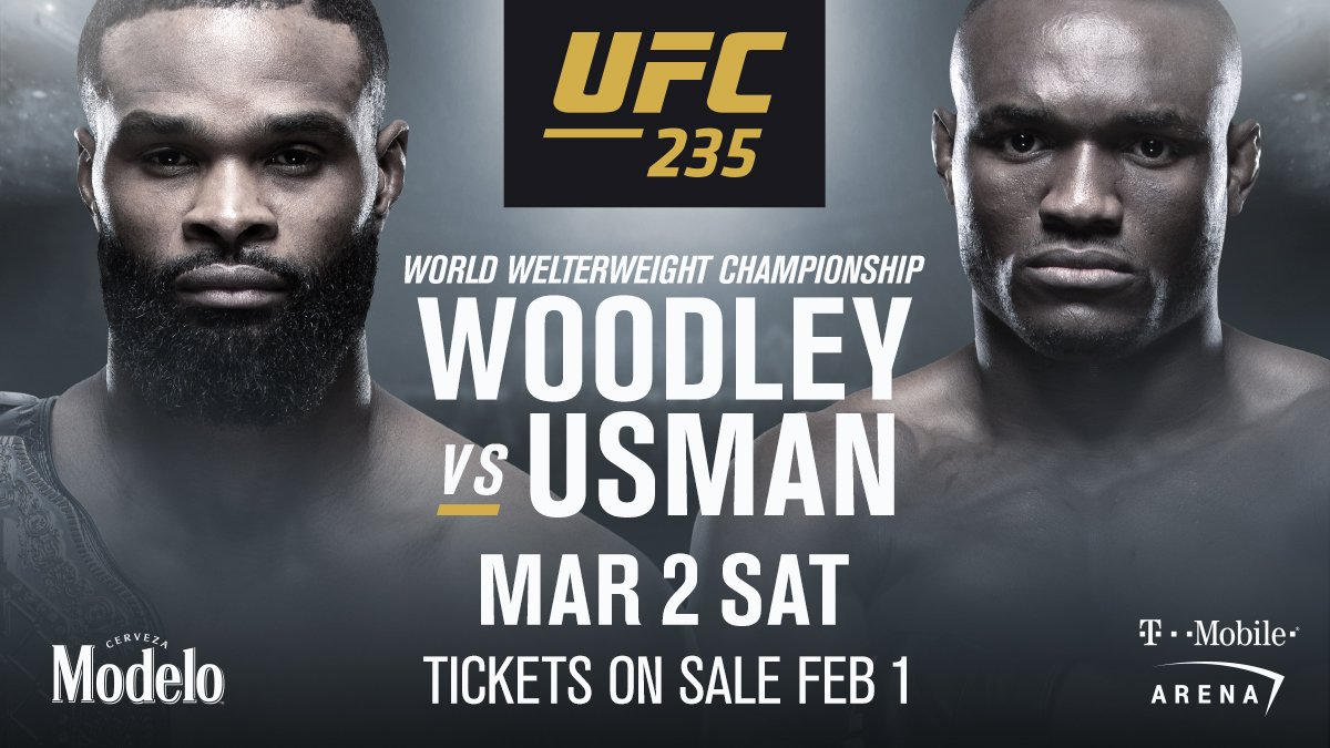 'The Chosen One' meets 'The Nigerian Nightmare'  🏆 @TWooodley faces 🇳🇬 @USMAN84kg in the co-main slot of #UFC235!