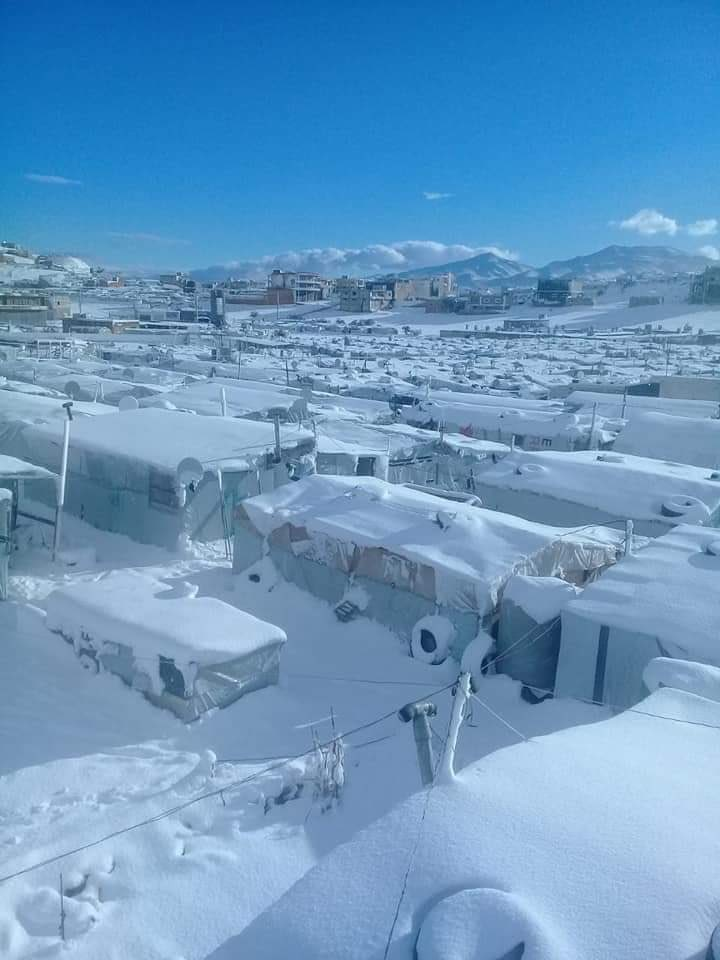These are the conditions Syrian refugees in Lebanon (Arsal) have to deal with. Desperate cold that seems to surprise UN aid agencies every winter. And they still don't want to go back to live under Assad. Imagine their fear of being forced to return.