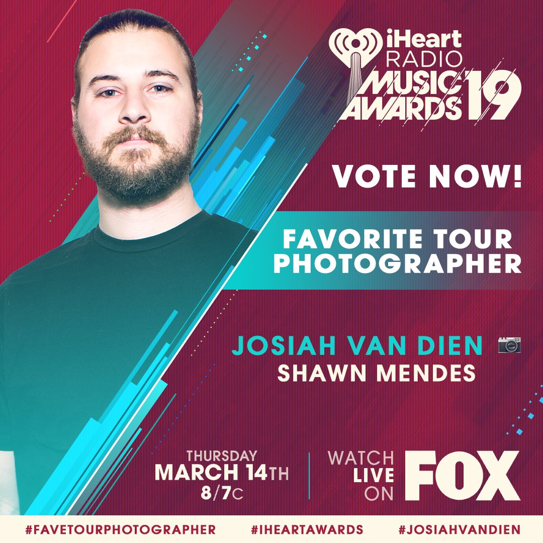 �� @JosiahVanDien x @ShawnMendes ��  #JosiahVanDien #FaveTourPhotographer #iHeartAwards  https://t.co/aPueslpaIw https://t.co/MduMGzNUKz