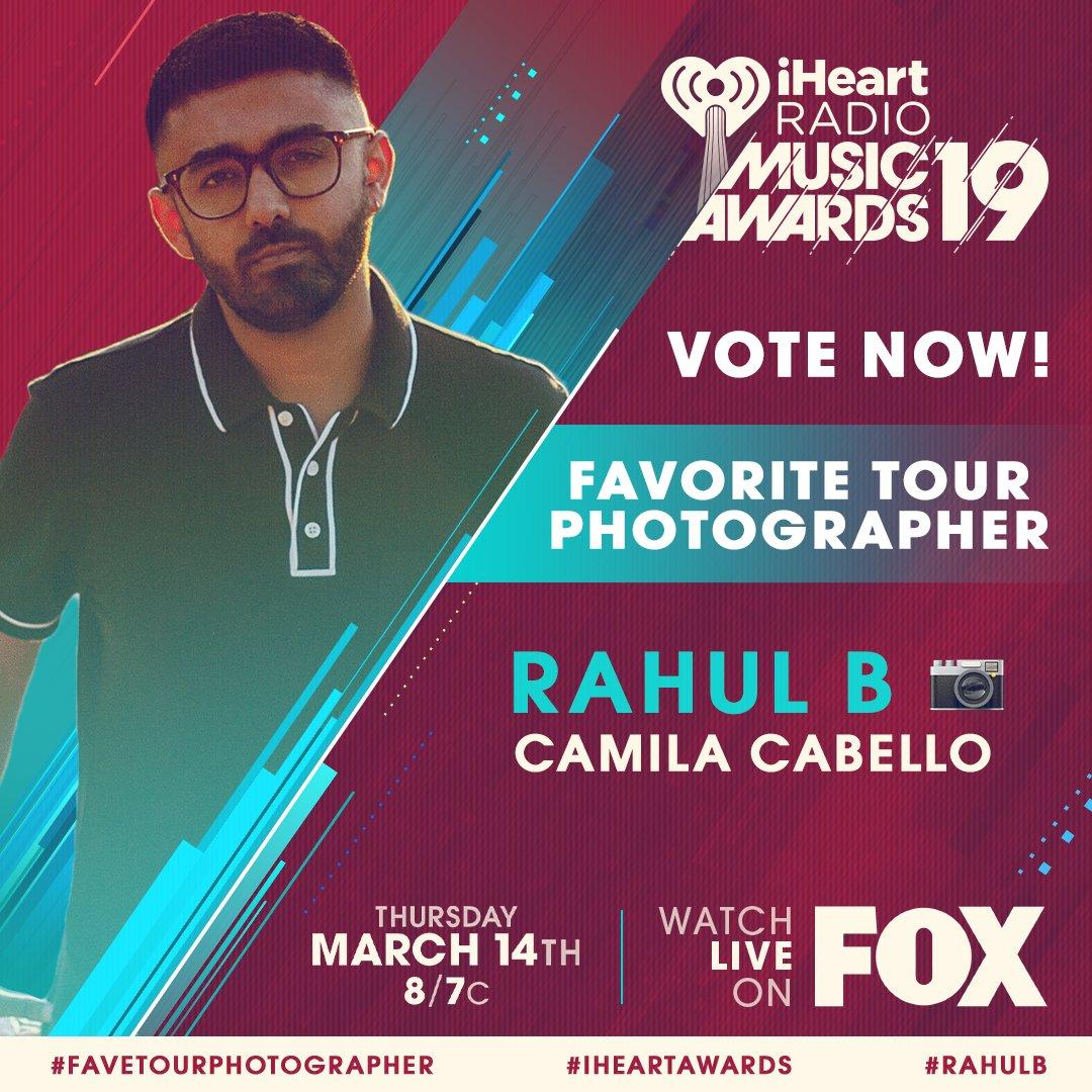 �� @rahulb91 x @Camila_Cabello ��  #RahulB #FaveTourPhotographer #iHeartAwards  https://t.co/aPueslGLA4 https://t.co/wWUEHSQhq1