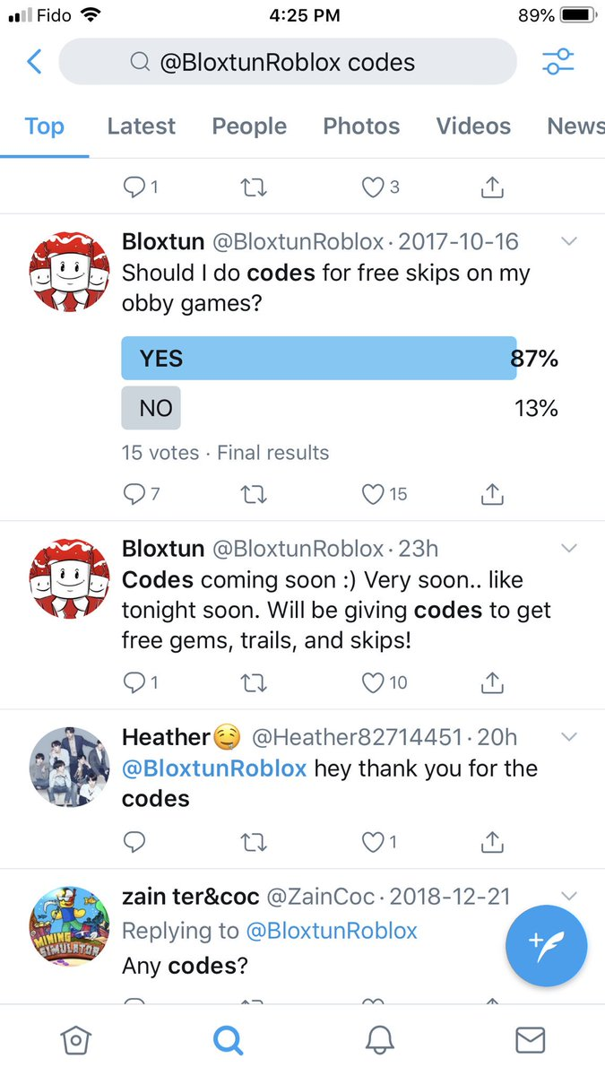 Bloxtun On Twitter Should I Do Codes For Free Skips On My Obby Games