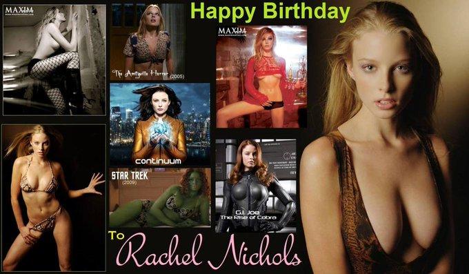 Happy birthday Rachel Nichols, born January 8,1980.