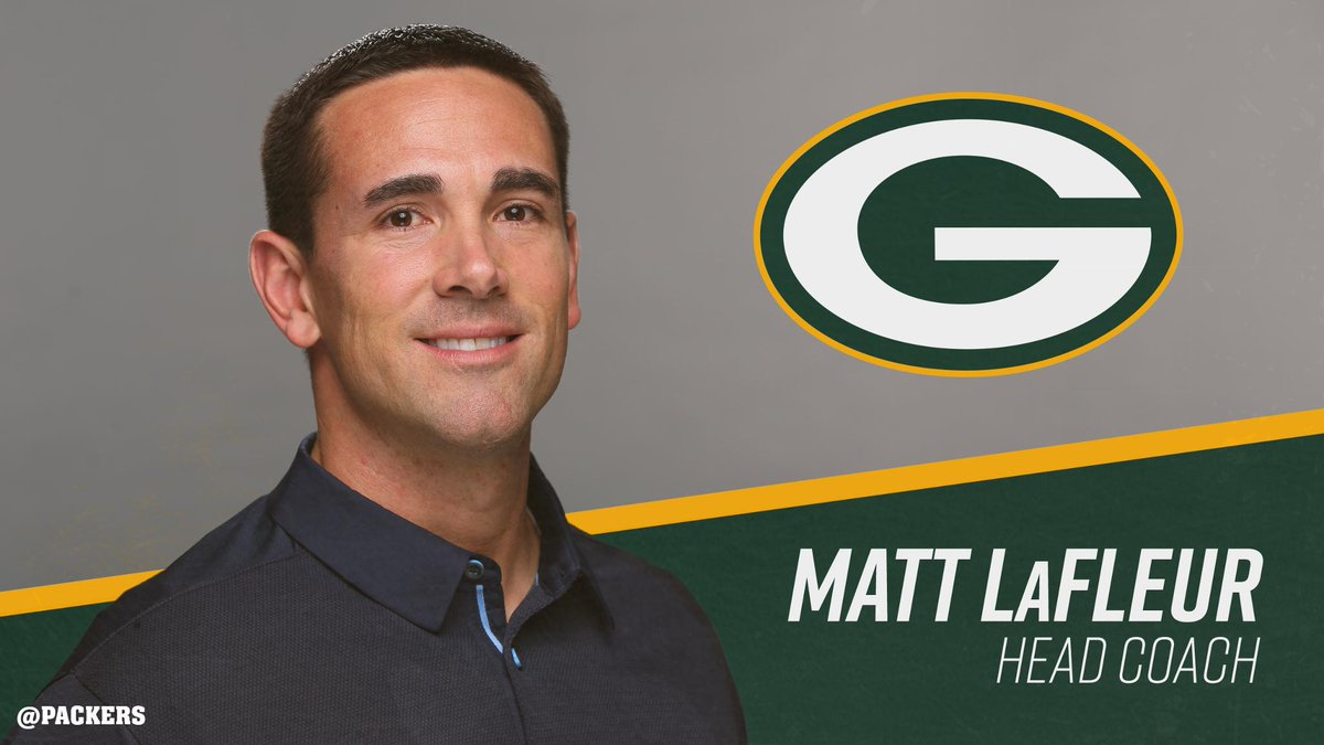 OFFICIAL: Matt LaFleur named head coach of the Green Bay Packers   Welcome to Green Bay, Coach LaFleur!   📰: https://pckrs.com/b7747    #GoPackGo