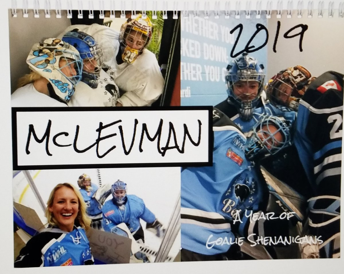 I'm partnering with #McLevman to raise money for @TheGoalieGuild #LiftTheMask! Limited edition McLevman wall calendars are available to order until 1/20 for $25 each. All proceeds beyond manufacturing/shipping costs will be donated to Lift The Mask.  DM me to place an order!