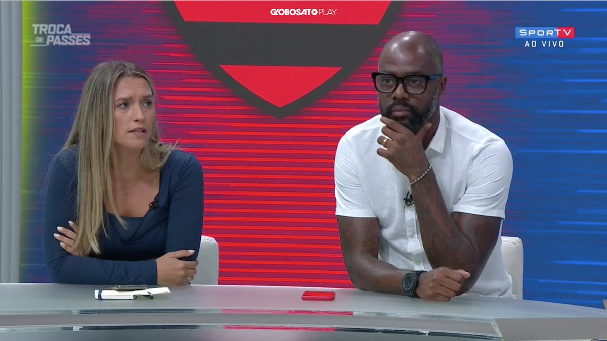 Ana Thaís Matos: 'Tá meio desequilibrado esse Flamengo. Tem que investir na defesa também.'  #TrocaDePasses