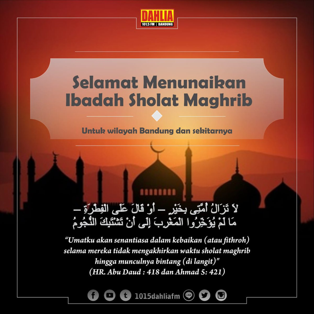 Dahlia Fm Bandung 1015dahliafm Twitter
