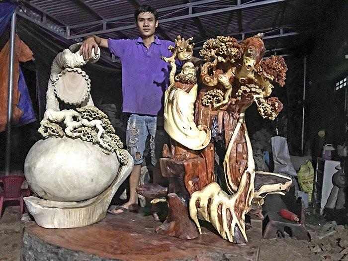 Tượng bồ đề Đạt Ma bằng gỗ Tùng là sự kết hợp tinh túy giữa chất gỗ và bàn tay nghệ nhân điêu khắc