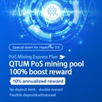 Image for the Tweet beginning: HyperPay open the QTUM PoS