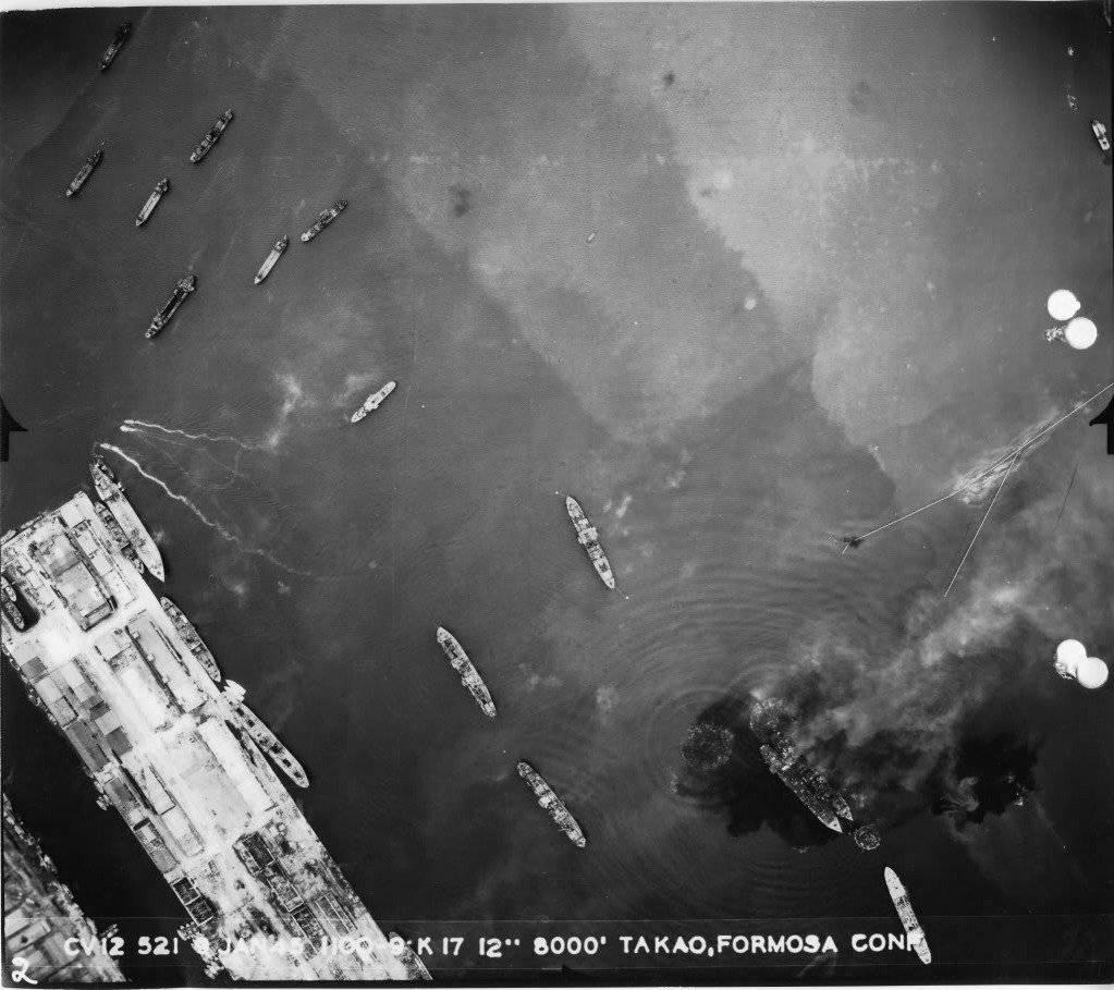 "J.WH on Twitter: ""1945年、昭和20年1月9日 台湾空襲 米第38任務部隊 ..."