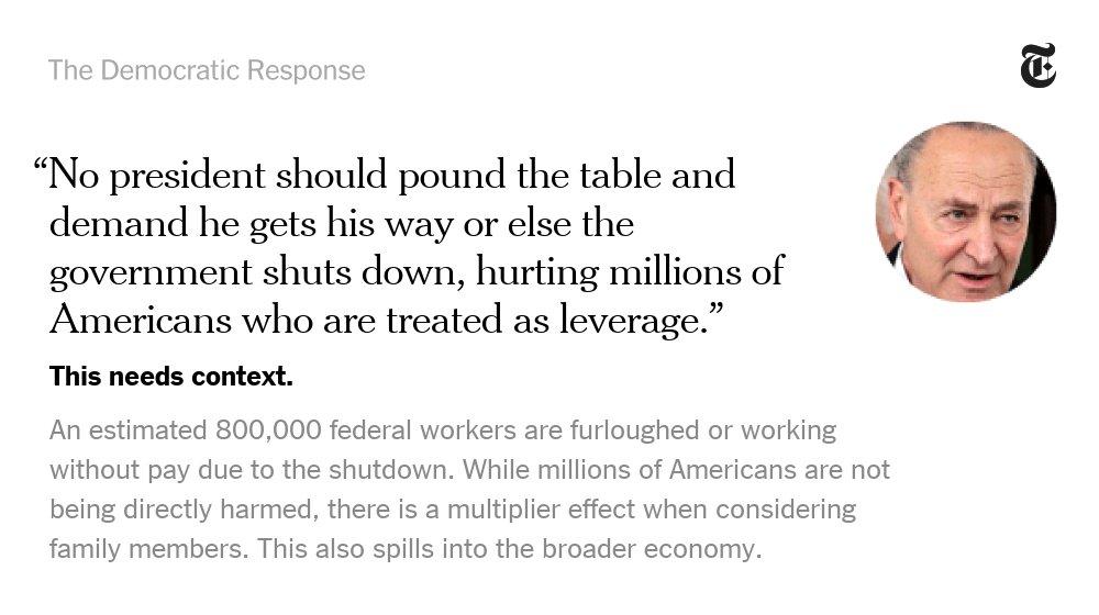 Fact Check: Senator Chuck Schumer's response to President Trump's address https://t.co/aaKB6NMLPQ https://t.co/7IdMsXWEMs