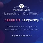 Image for the Tweet beginning: @digifinex DigiFinex has listed Vexanium