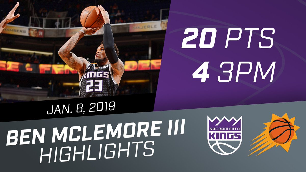 With a season-high 20 PTS, Benny Mac was a big spark for Sactown ⚡️  @BenMcLemore | 🎥