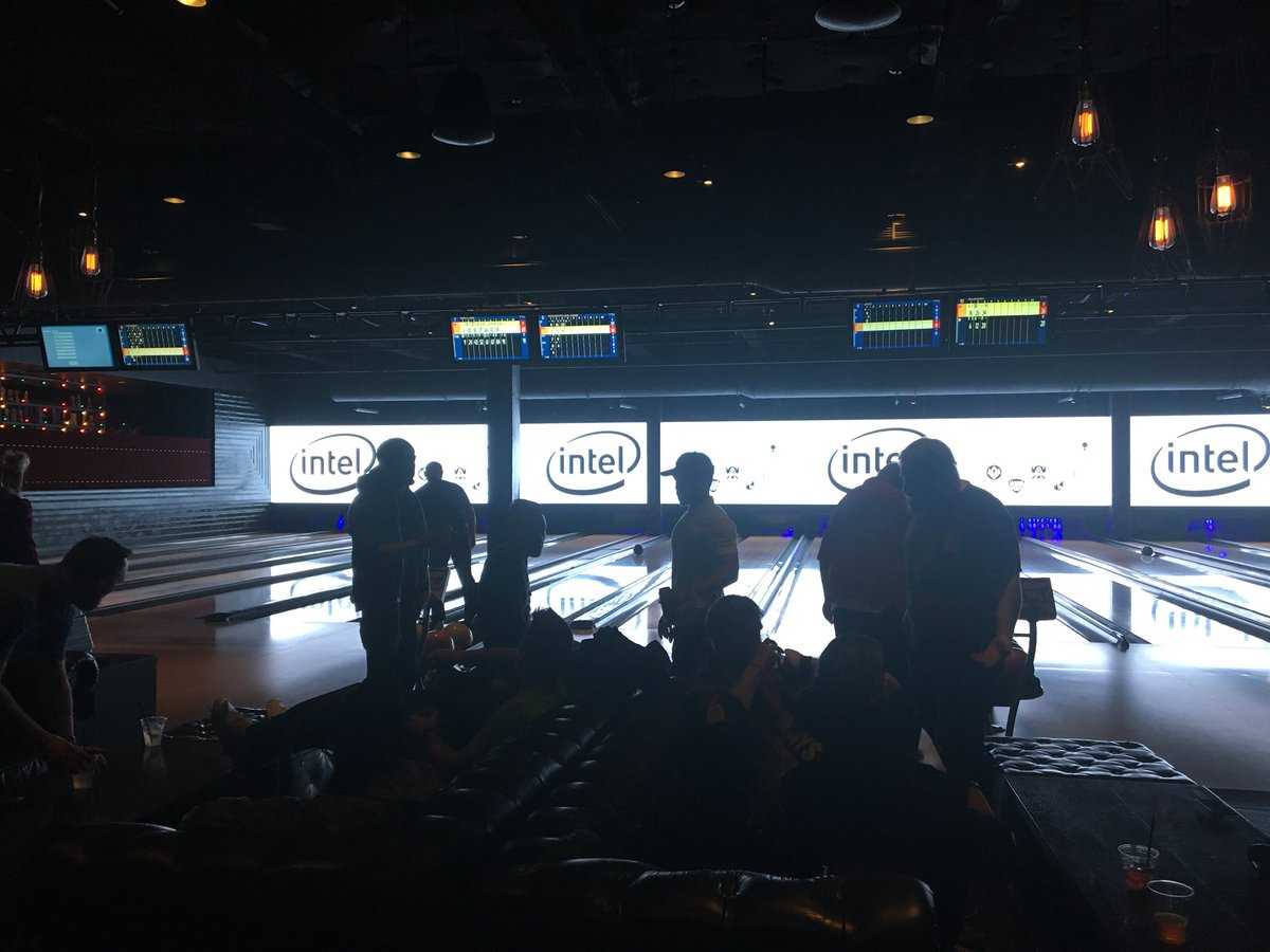 Bowling. It's happening. #AlienwareHive #dellexperience