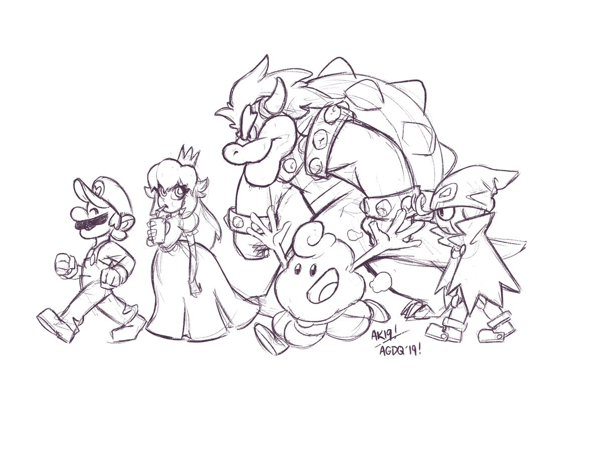 Sneaking in a Super Mario RPG doodle before it wraps up at AGDQ. What an entertaining run with some killer luck.  #agdq #AGDQ2019 #GamesDoneQuick #GamesDrawnQuick #smrpg<br>http://pic.twitter.com/0UTHoOauwf
