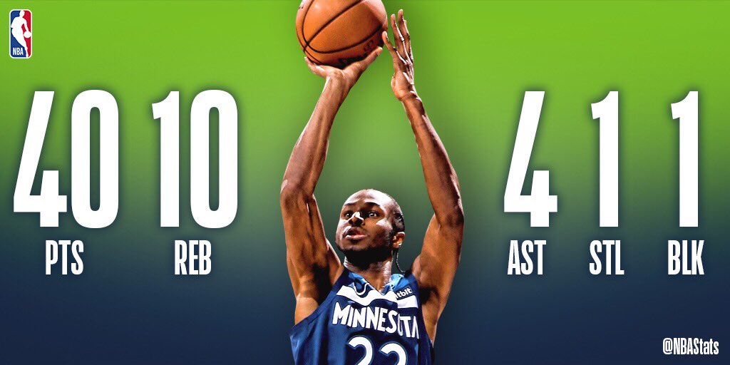 Andrew Wiggins records his first career game with 40+ points and 10+ rebounds in the @Timberwolves road win! #SAPStatLineOfTheNight <br>http://pic.twitter.com/lBB3gzwMca