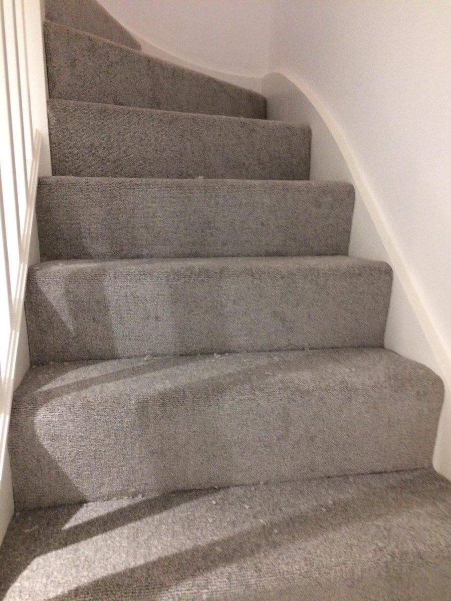 Light Grey Stairs Landing Carpets