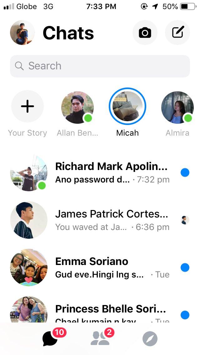 Updated na messenger ko pero wala namang akong ka-chat. XoXad 😪