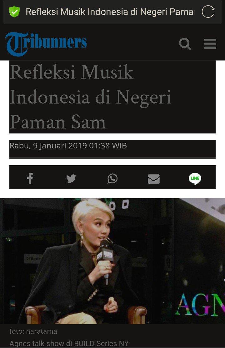 Baca full artikelnya di sini ��  Refleksi Musik Indonesia di Negeri Paman Sam  https://t.co/MrjignU8Zx https://t.co/czmTC7DJba