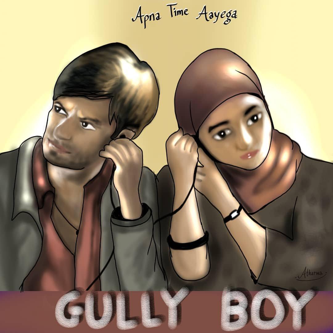 .......'GULLY BOY'....... ....Apna Time Ayega..... @RanveerOfficial @aliaa08 @FarOutAkhtar @excelmovies Digital Illustration on mobile...  #illustration #digitalart  #GullyBoy #GullyBoyTrailer  #ranveersingh #aliabhatt #apnatimeaayega #film #bollywood #movie #trailer