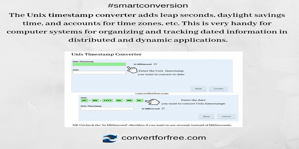 UNIX TIMESTAMP CONVERTER - Solved: Converting UNIX time to Date in