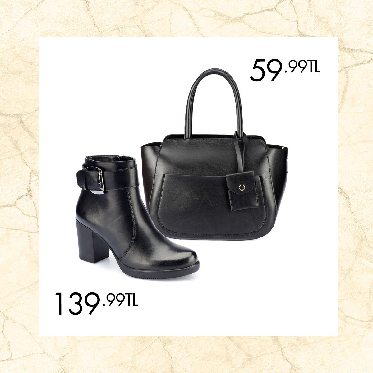 Kış aylarının soğuk günlerinde sizi sıcacık tutacak botlar ve kombin oluşturabileceğiniz çanta modelleri Polaris'te! Siyah Kadın Bot 36-40 Numara 129,99 TL 🔎 100343298 http://bit.ly/2SEW1sY Haki Kadın Kol Çantası 59,99 TL 🔎 100337427 http://bit.ly/2RgY1uB