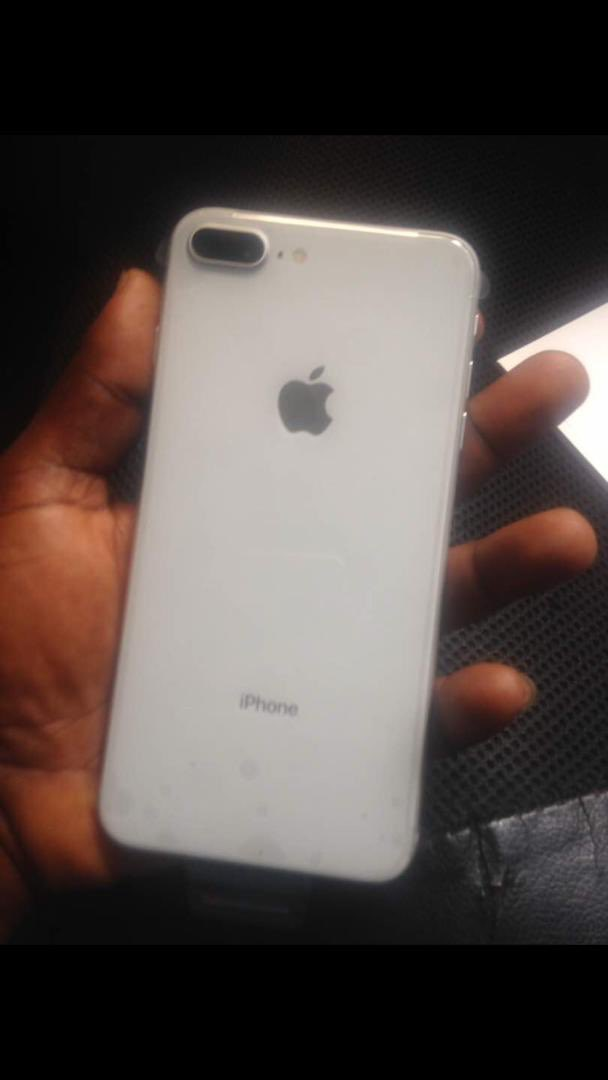 iPhone 8+ White Neat 64gb iOS 12.1.2 2free phone cases Free original Apple lighting cable  Dm for price  #askdavido #wednesdaythoughts #