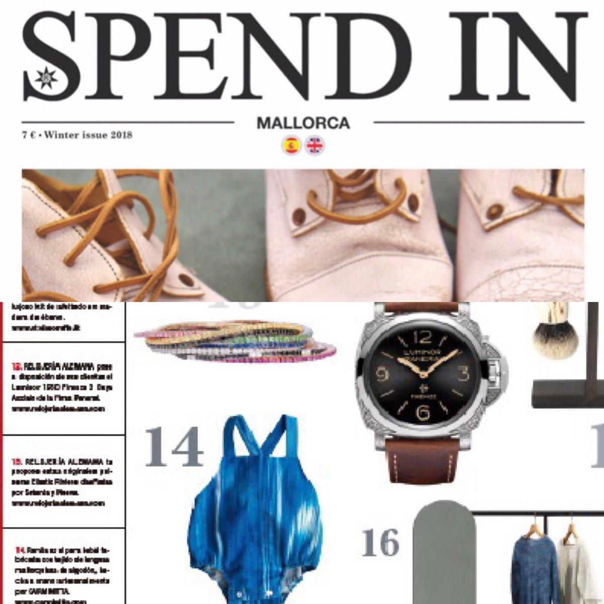 Felices y agradecidas de aparecer en @SPENDINmagazine como uno de sus #esenciales 🎊 A por el día🤗 👉 https://carminitta.com/ de REBAJAS!!