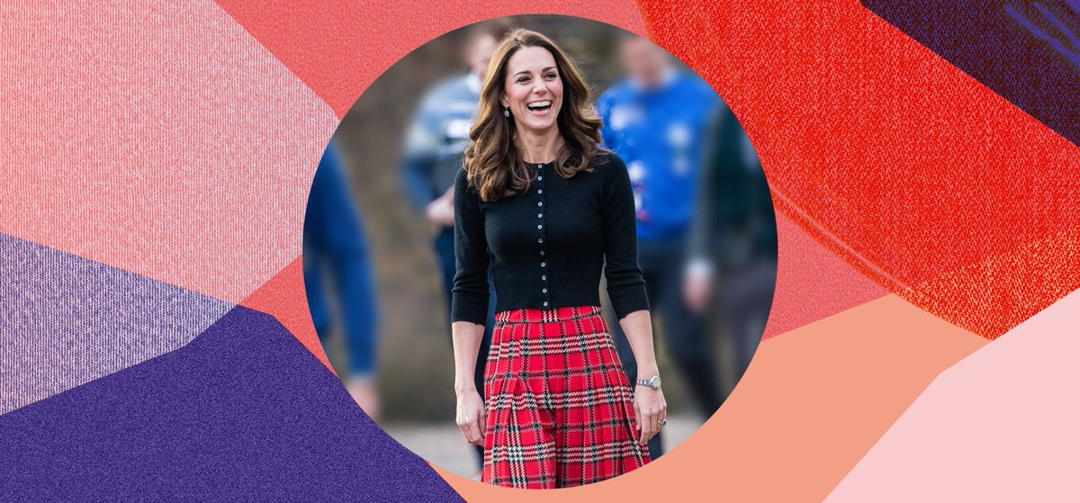 1e48812fd0 Happy birthday kate! let's celebrate with her best looks ever, starting  with this pleated tartan midi skirt by emilia wickstead paired with a pared  back ...