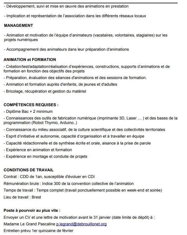 Alexandre Lhomme Auf Twitter Offre D Emploi Coordinateur