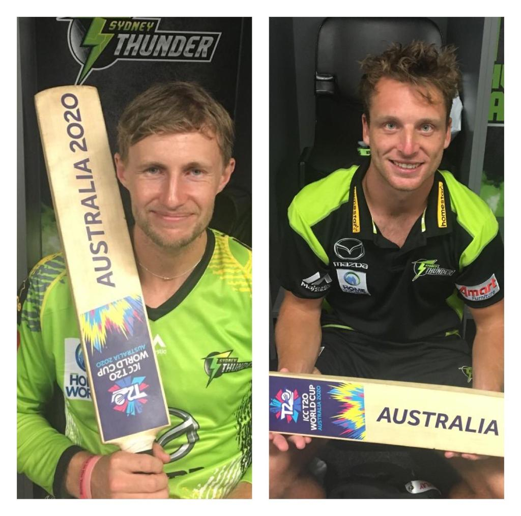 England stars @root66 and @josbuttler have finished their stint in #BBL08 but expect to see them back down under for the #T20WorldCup in 2020!