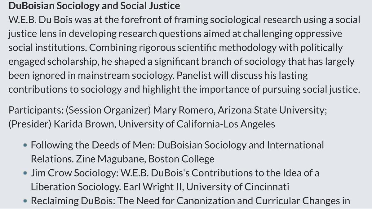 Looking forward to presenting #JimCrowSociology at @ASAnews.  #AtlantaU #Fisk #Howard #Tuskegee   #HBCU #BlackSociology #BearcatSociology<br>http://pic.twitter.com/8SGNCnKuus