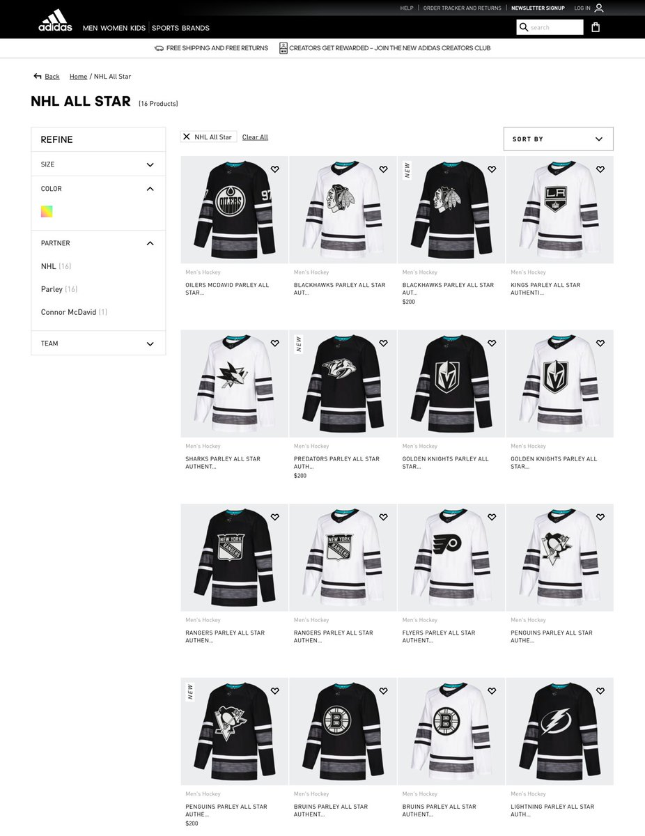 The 2019  NHLAllStar jerseys get revealed today but it looks like they ve  leaked a bit early on Adidas s online store. I don t really have the words  ... 5aa73c70b
