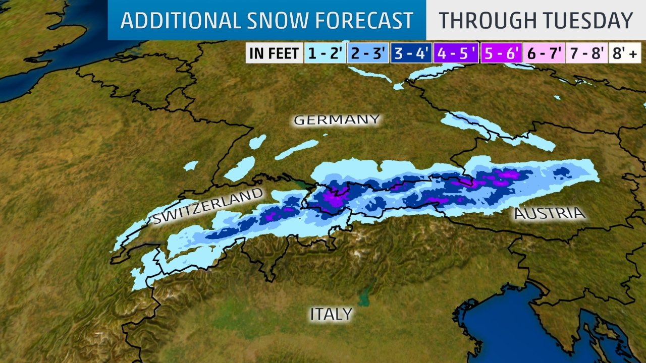 Map Of Germany Landforms.The Weather Channel On Twitter Parts Of The Austrian And Bavarian