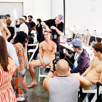 When all eyes are on you #ParkeandRonen #SS19 #backstage #runwayshow #fashionshow #mensdesigner #mensfashion #menswear #stylehim http://unnamedproject.com/featured/parke-ronen-ss19/… @parkeandronen