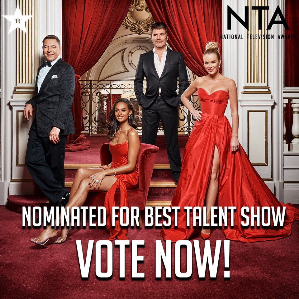My mum thinks @bbcstrictly is better but you can vote for @BGT at the @OfficialNTAs here... https://t.co/5hLauJkdwz