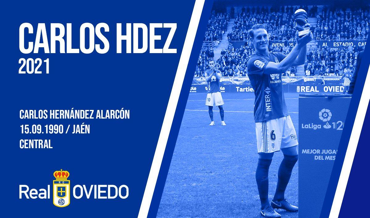 Anuncio de la renovación de Carlos Hernández (Foto: Real Oviedo).