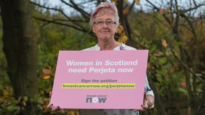 Suzanne Hickling explains why she got involved with our campaign to make the life-changing drug Perjeta available on Scotland's NHS for treating secondary breast cancer. #PerjetaNow ▸ Photo
