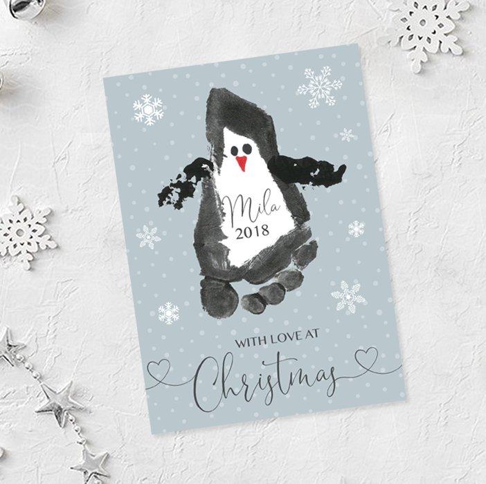 Penguin Christmas Cards Footprint.Stationerdesigner Hashtag On Twitter