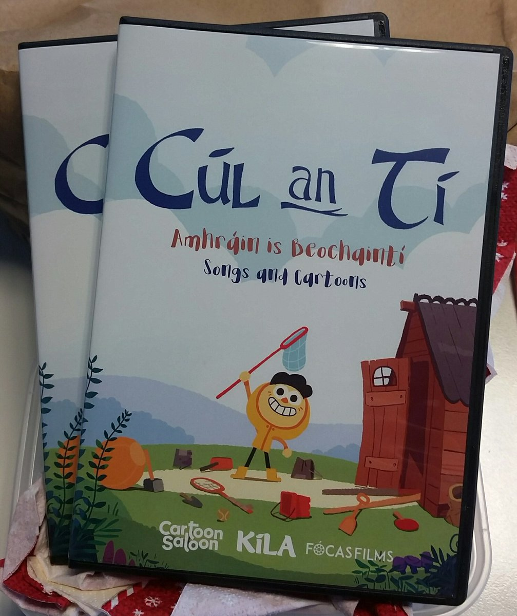 We got our @CulanTiTG4 DVDs today! Many thanks to the @CartoonSaloon!!