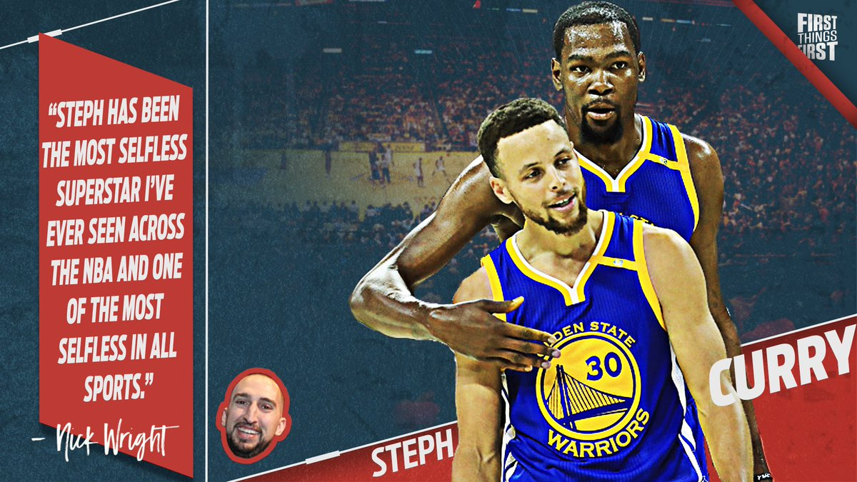 I don't agree much with Nick Wrong, but he's right. Steph Curry #NBAVote RT @FOXSports: Steph Curry is the most selfless superstar in the NBA<br>http://pic.twitter.com/lUo3WzDCuK