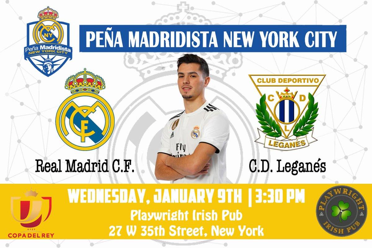 """Los días que tú juegas son todo lo que soy..."" Join us for #CopaDelRey match vs Leganés 3:30PM @playwright35th"