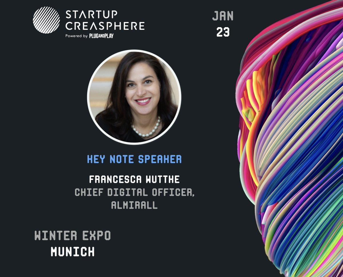 We are thrilled to have @FrancescaWuttke, Chief Digital Officer of Almirall as a #keynote speaker at our #winterexpo in #munich on January 23rd.  #transformhealthcaretogether #expoday #pnphealth #pnpinsurtech  RSVP here: https://t.co/7CYlaV8xWZ https://t.co/XfnOhIagK9
