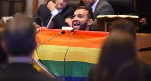 Com bandeira LGBT, deputado Fábio Felix toma posse no DF  #geledes #LGBTI #empauta  https://t.co/Trmfm2LQ2B