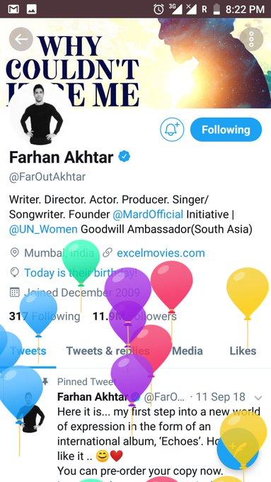 wish u a very happy birthday dear Farhan Akhtar...