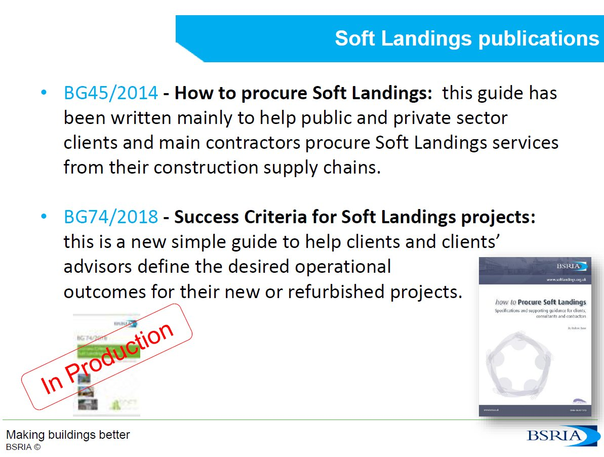 Martin Ronceray of BSRIA is talking about soft landings publications during  this evenings CPD seminar www