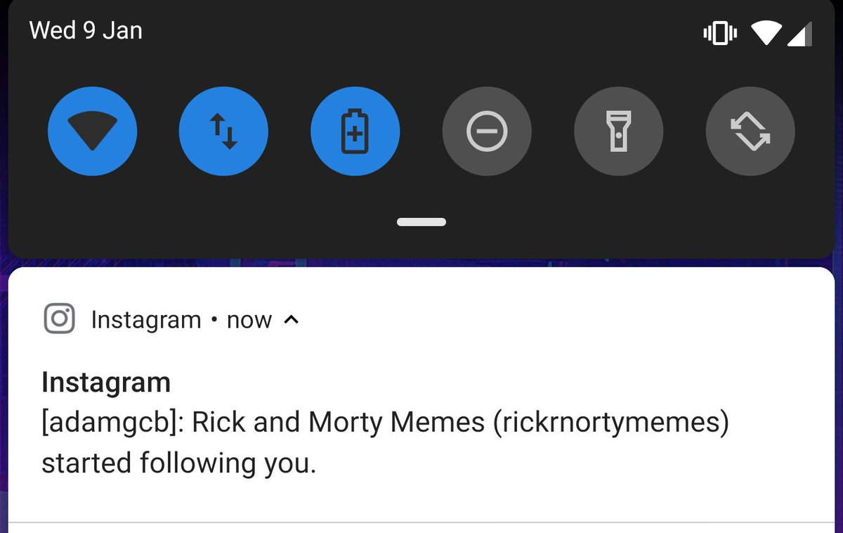 Cursed notification
