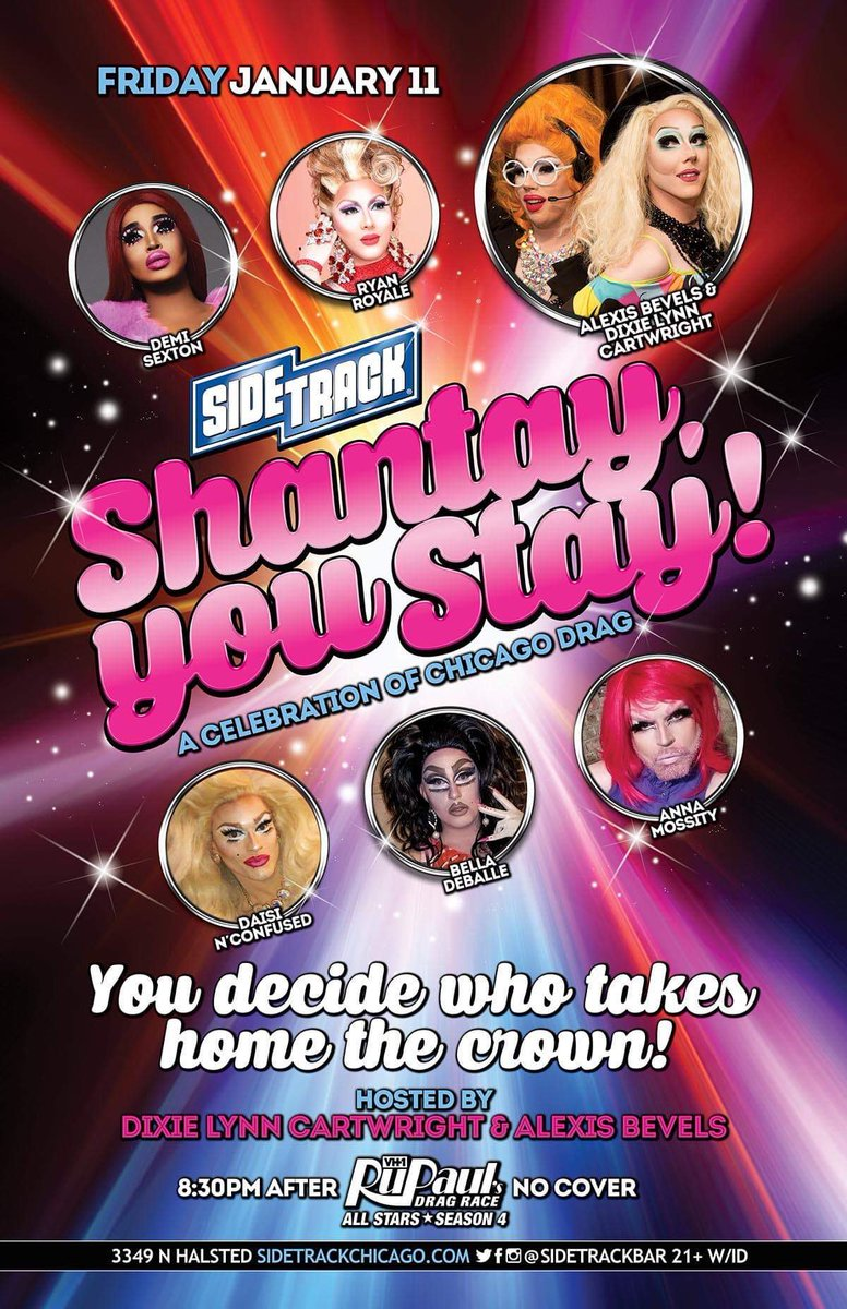 Friday night! Find out who has the moxie to win #Shantayyoustay at @sidetrackbar right after #rpdrallstars4 <br>http://pic.twitter.com/8ACqcjYykQ